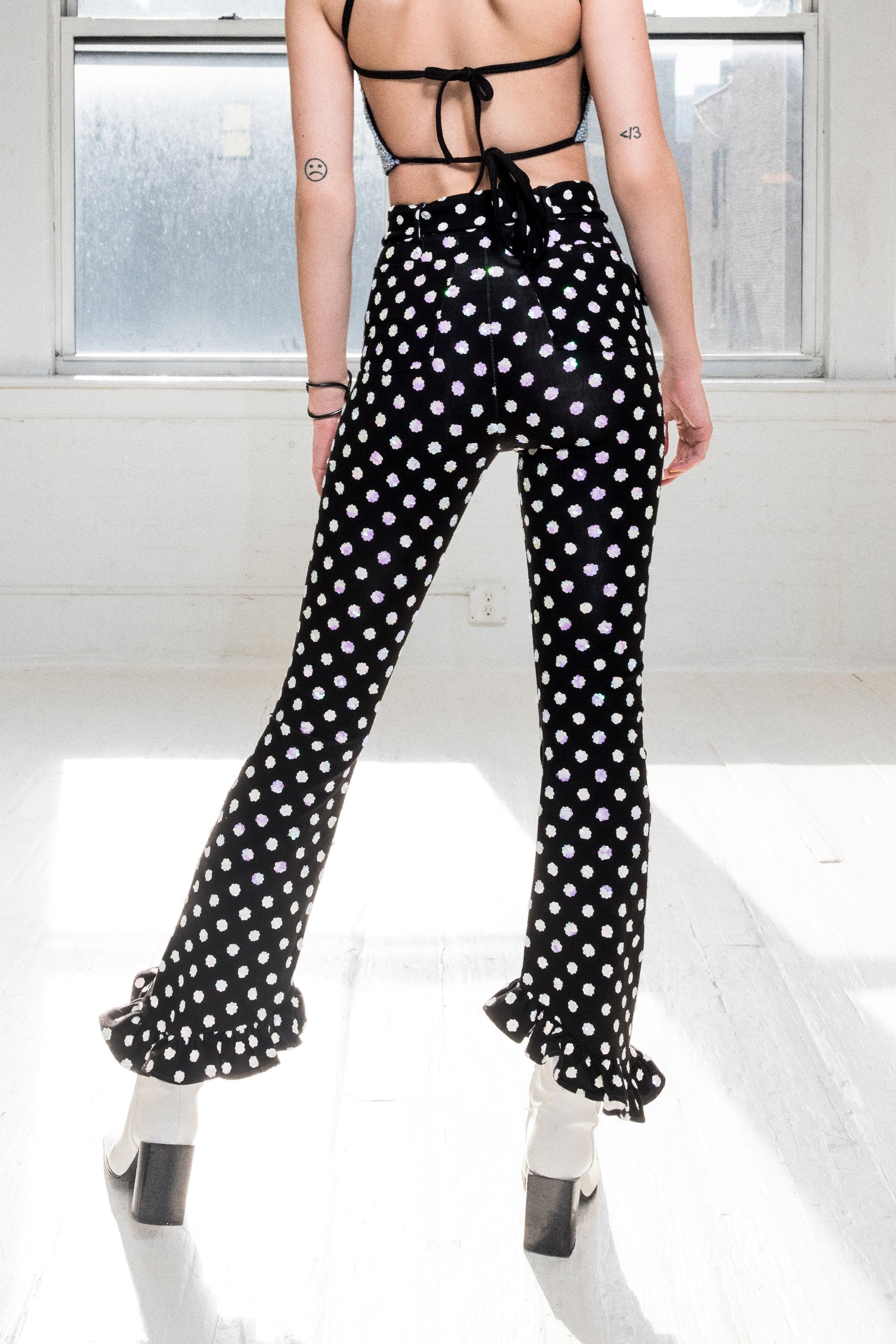 The Modern Love Sequin Pants in Black