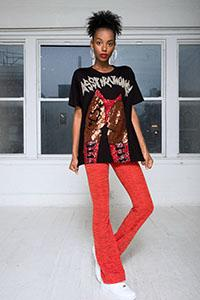The ASSPIRATIONS! Sequin Tee in Brown