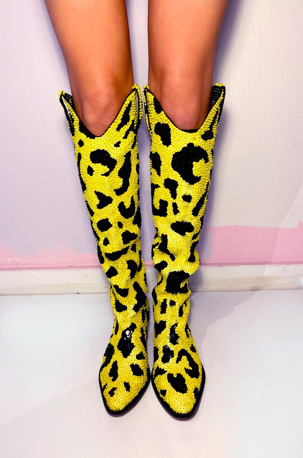 The Yellow Leopard Cowboy Boots *Made-To-Order*