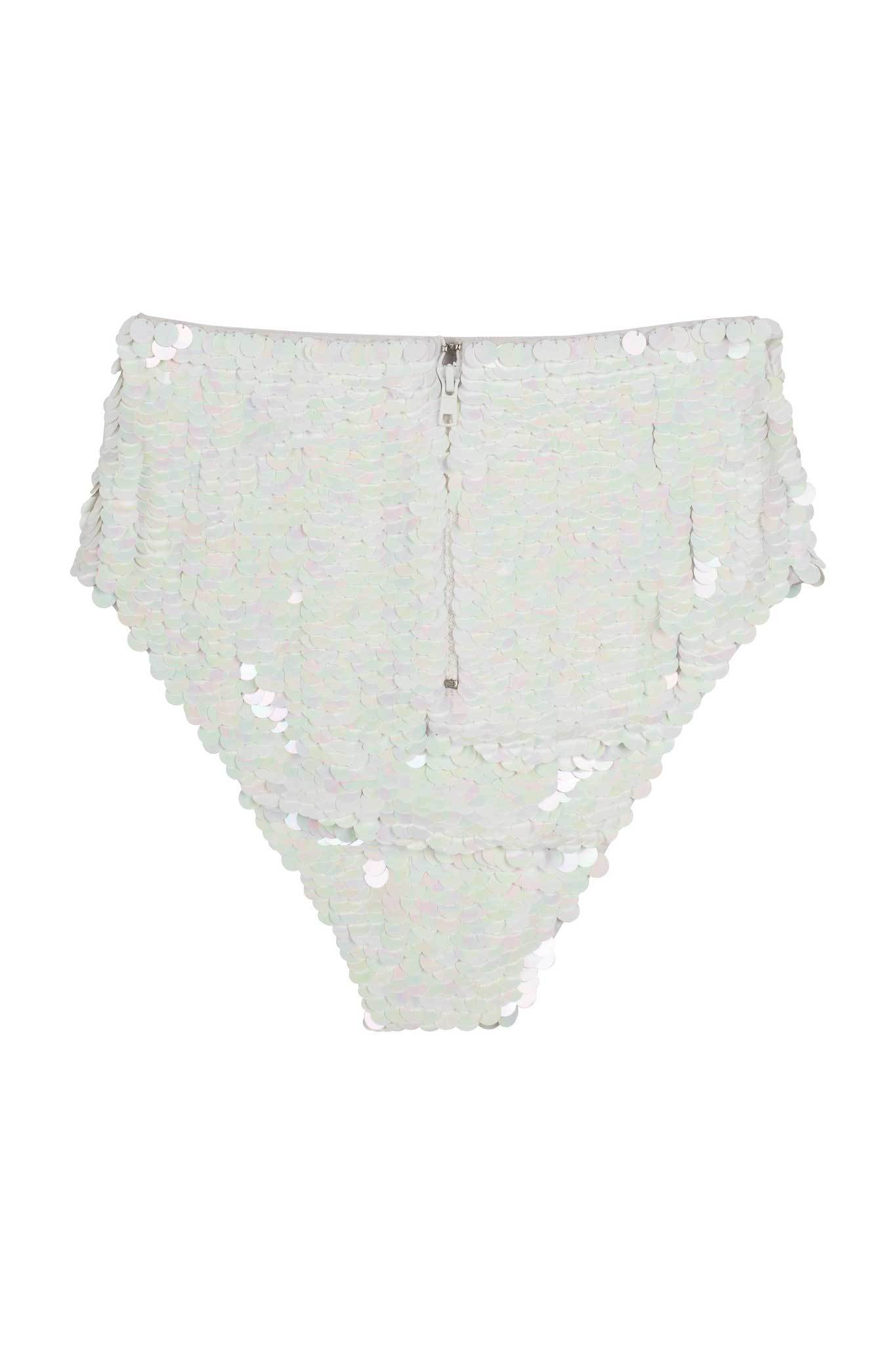 White Iridescent Sequin Undies