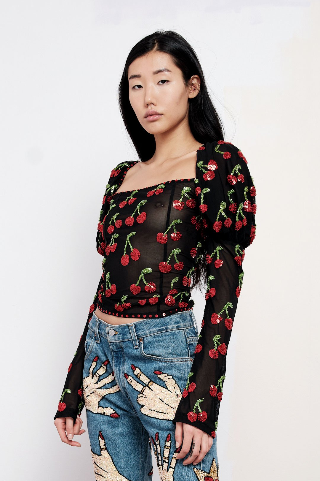 The Cherry On Top Puff Sleeve Top