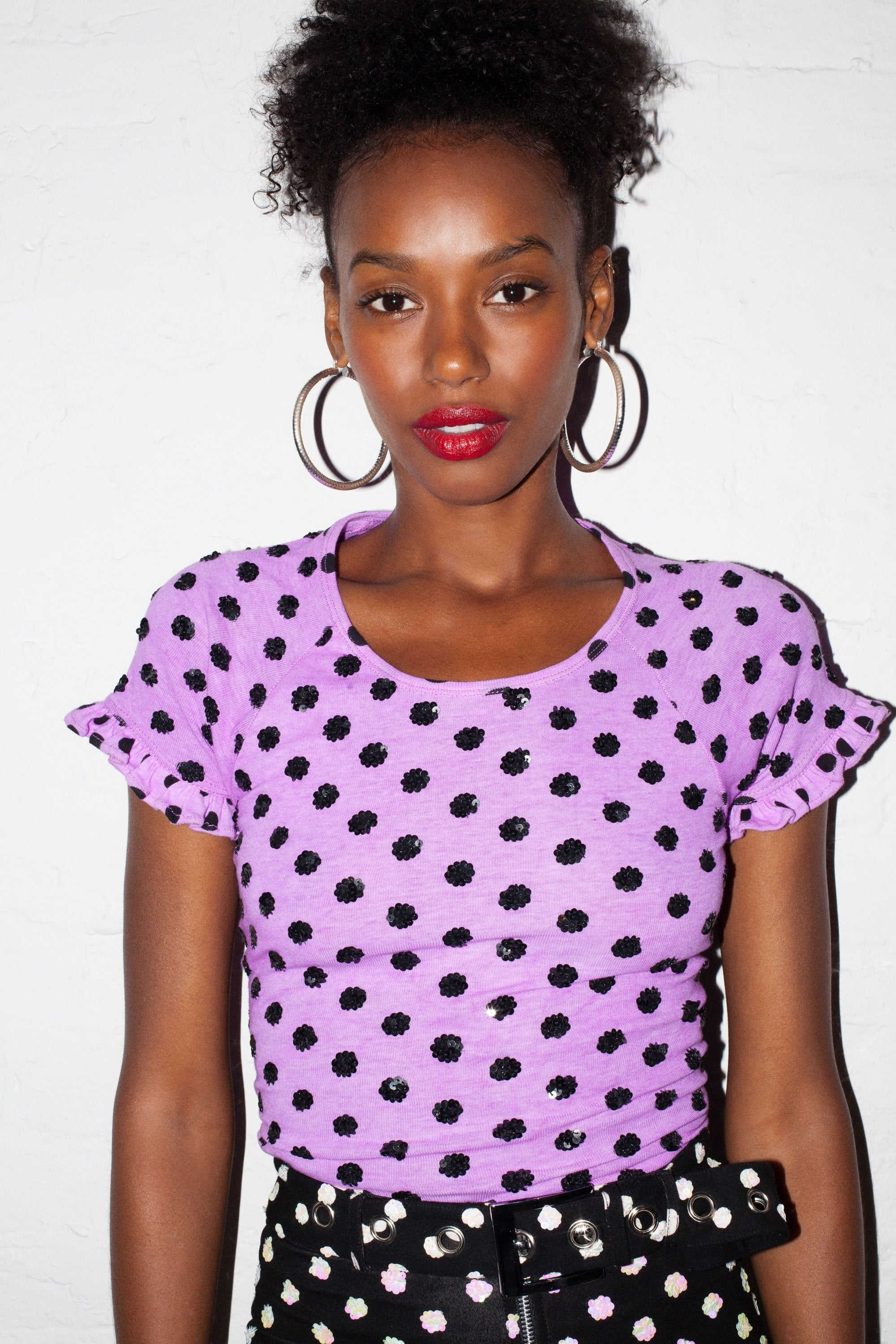 Tainted Love Tie-Back Tee in Purple