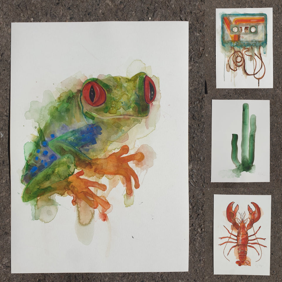 Original Paintings and artworks on paper