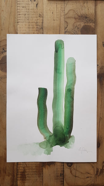 Original A3 Watercolour Cactus