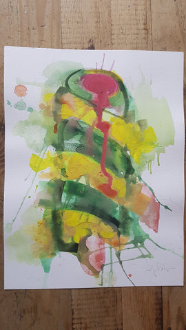 Original A3 Watercolour melted twister