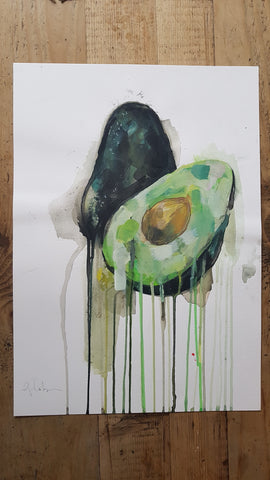 Original A3 Watercolour avocado