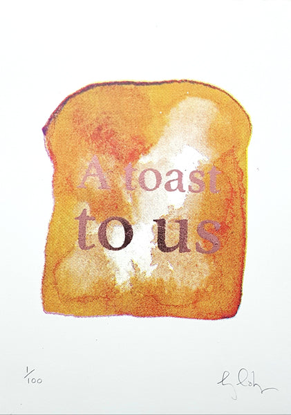 A toast to us