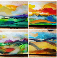 Special offer - 5 abstract hand painted postcards