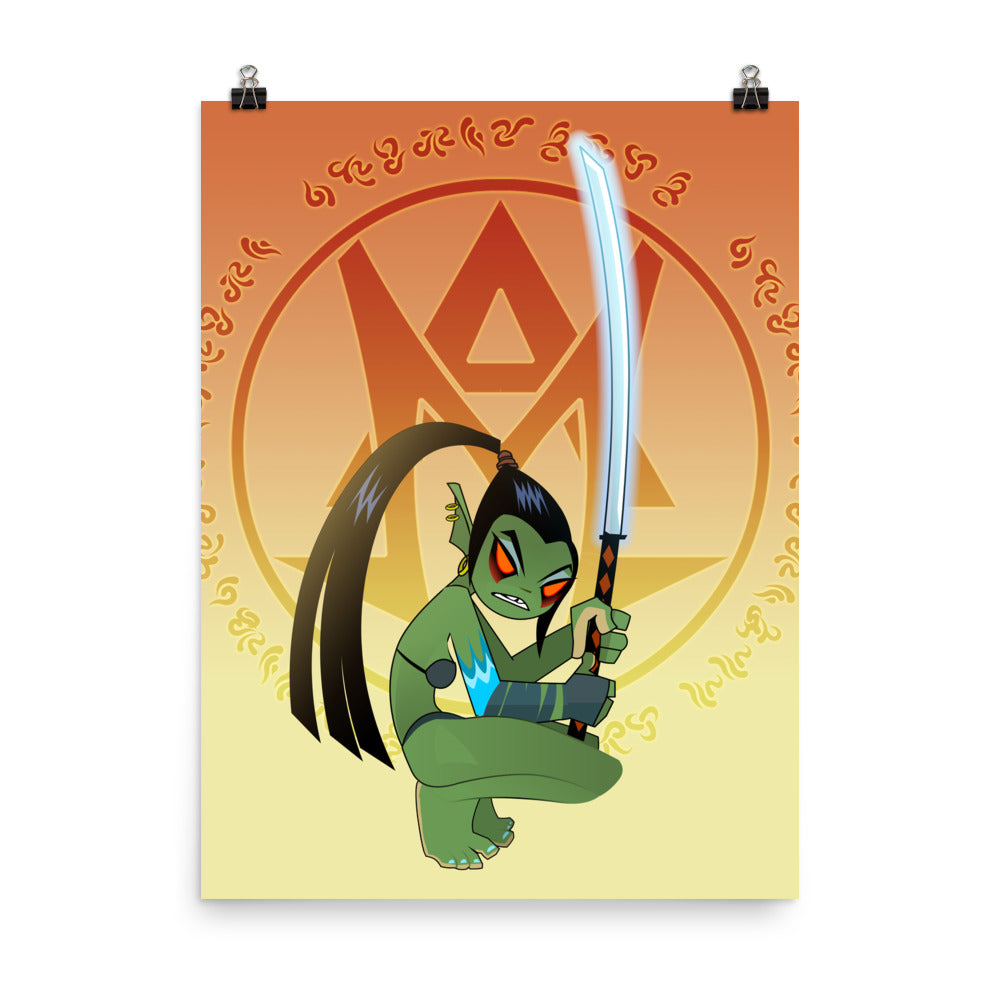 Cutecraft: Orc Blade Master Poster