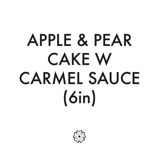 Apple & Pear Cake W Caramel Sauce (6in Round)
