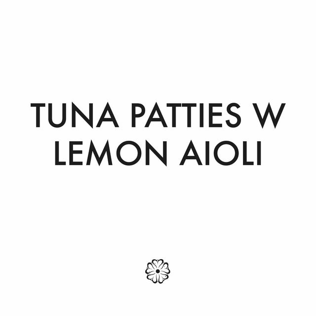 Tuna Patties W Lemon Aioli