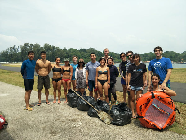 Singapore's First Freediving Clean Up (by Michelle)