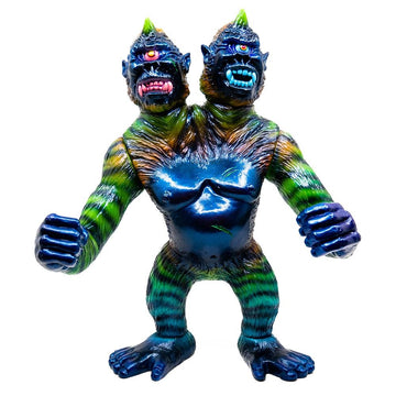 2 Headed Cyco Ape Vinyl Toy Painted by Candie Bolton - Mishka