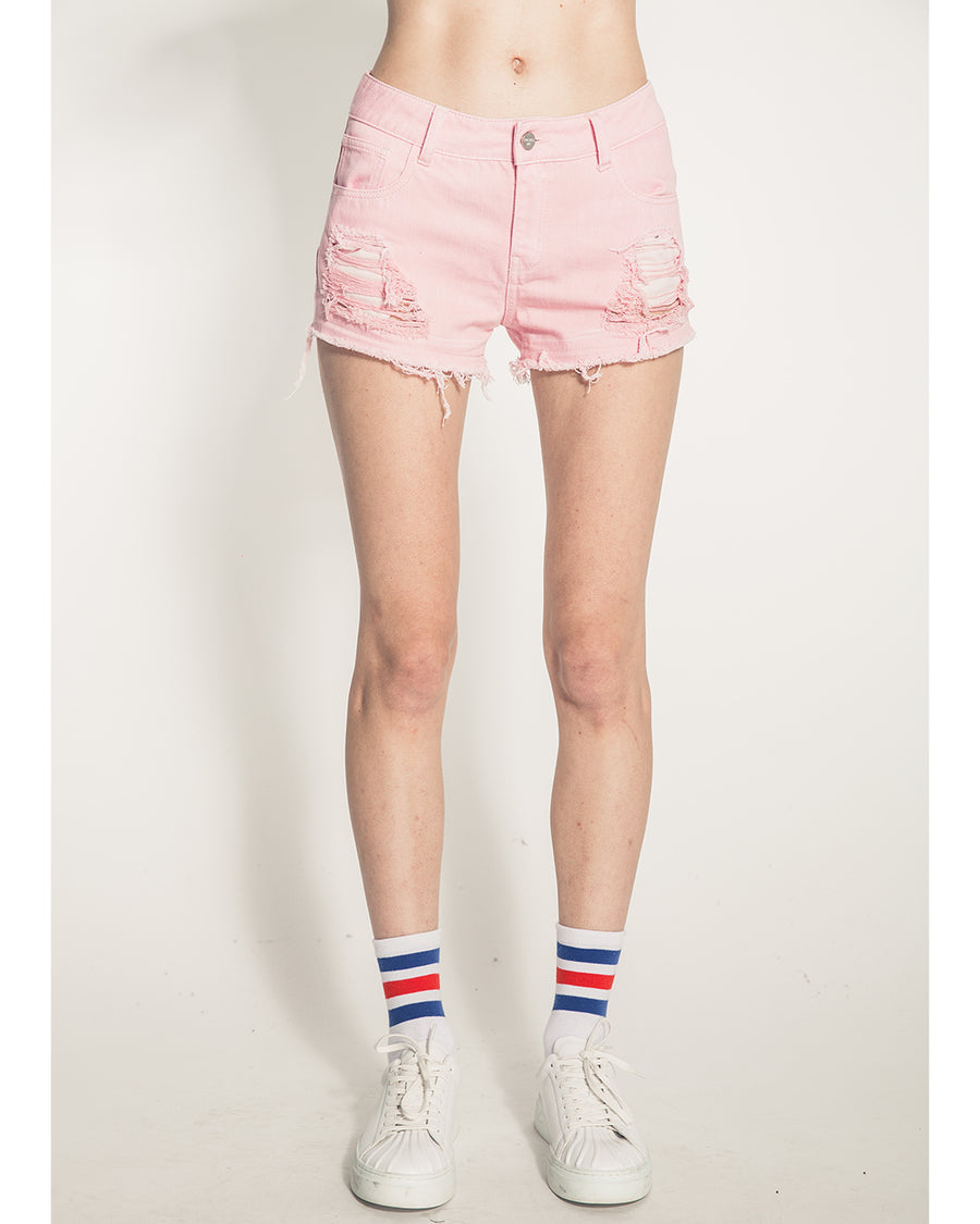 Mistakes Girl's Denim Shorts (Pink)
