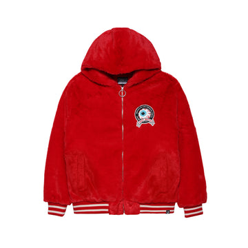 Keep Watch Hooded Furry Jacket
