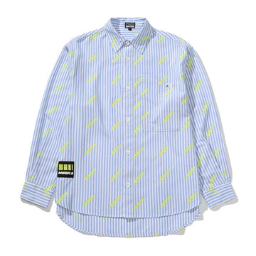 All Over Cyrillic Logo Button Up - Mishka