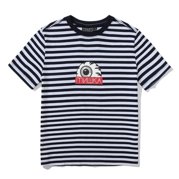 Keep Watch Navy & White Striped Womens Tee