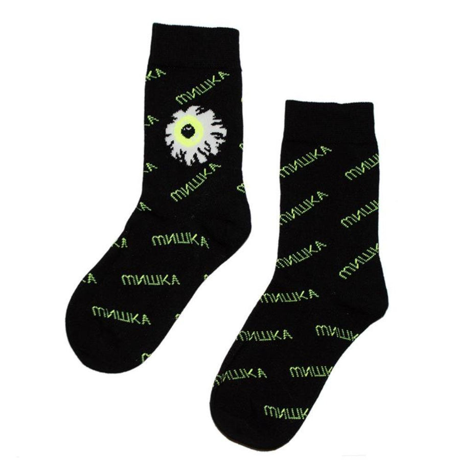Cyrillic Keep Watch Crew Socks - Mishka
