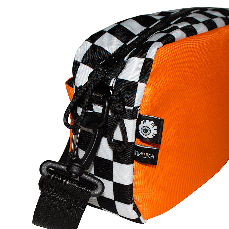 Cyrillic Checkered Bag