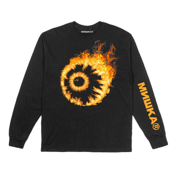 Flaming Keep Watch Longsleeve - Mishka