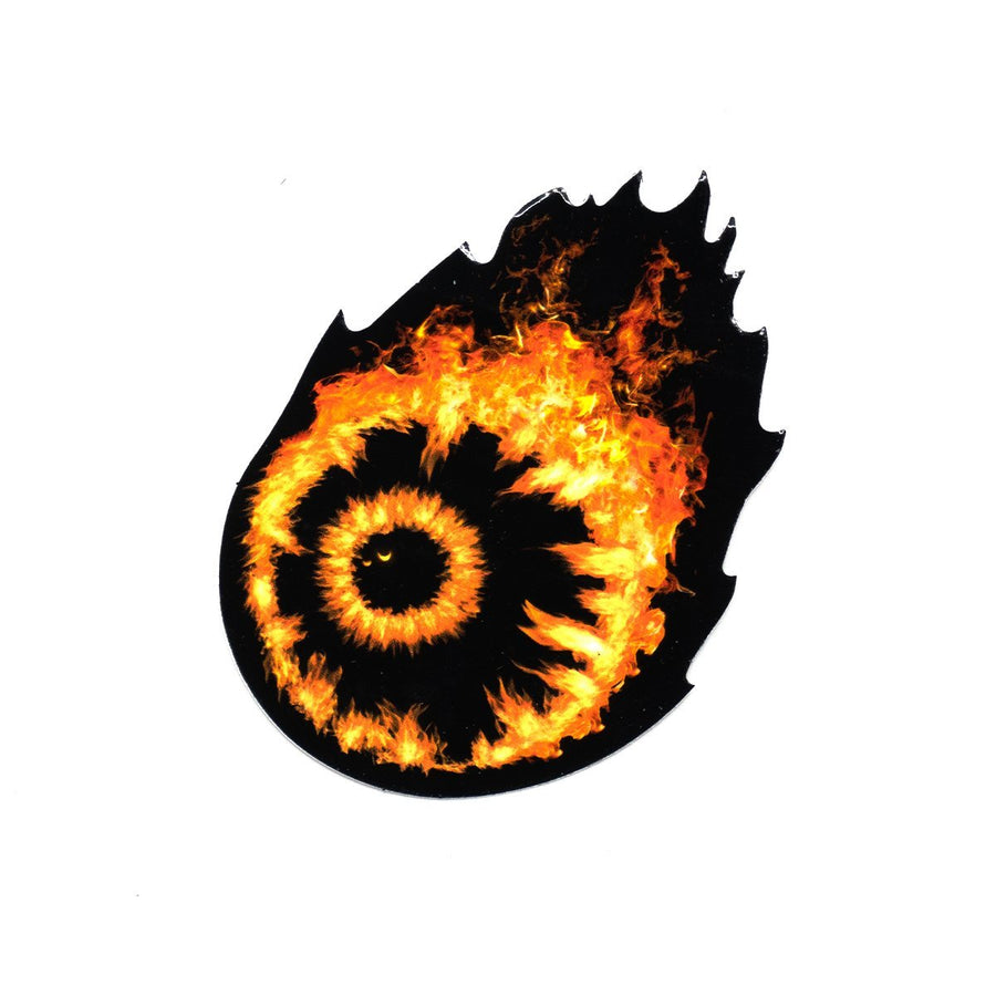 Flaming Keep Watch Sticker - Mishka