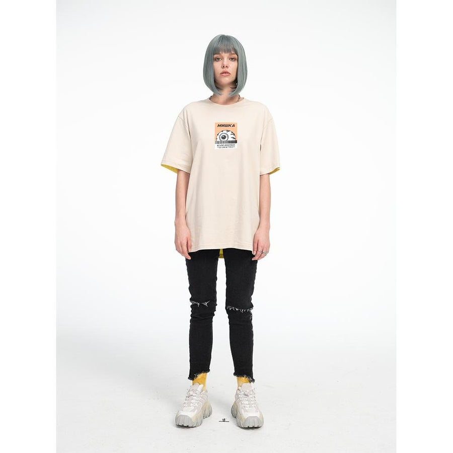 Keep Watch Color Blocked Tee - Khaki - Mishka NYC
