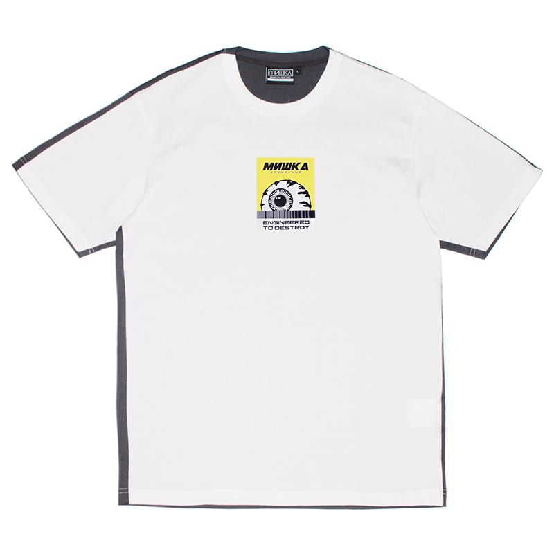 Keep Watch Color Blocked Tee - OffWhite - Mishka