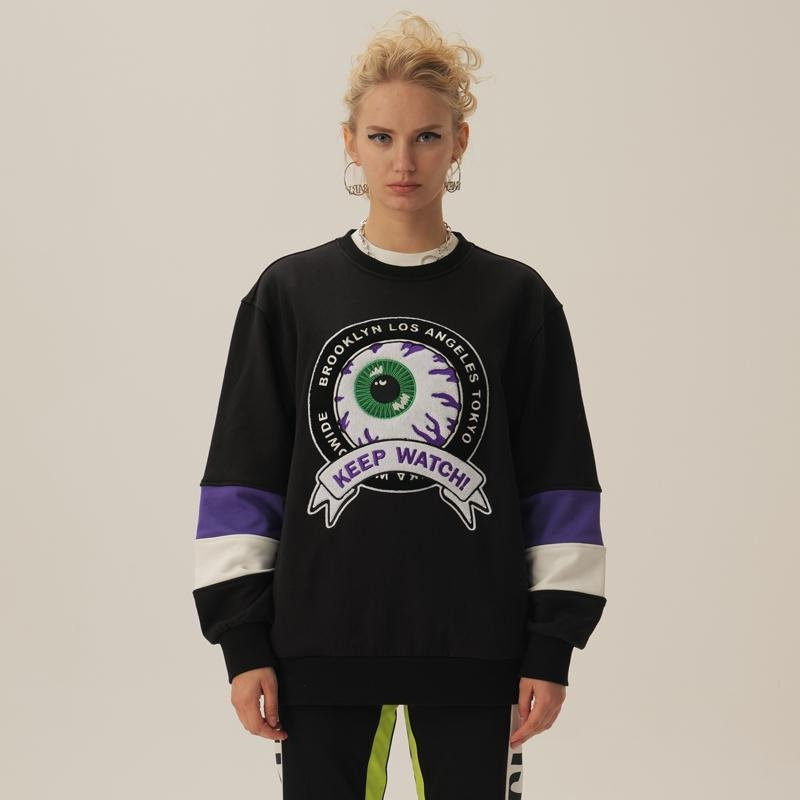 Keep Watch Worldwide Stripped Crewneck - Mishka