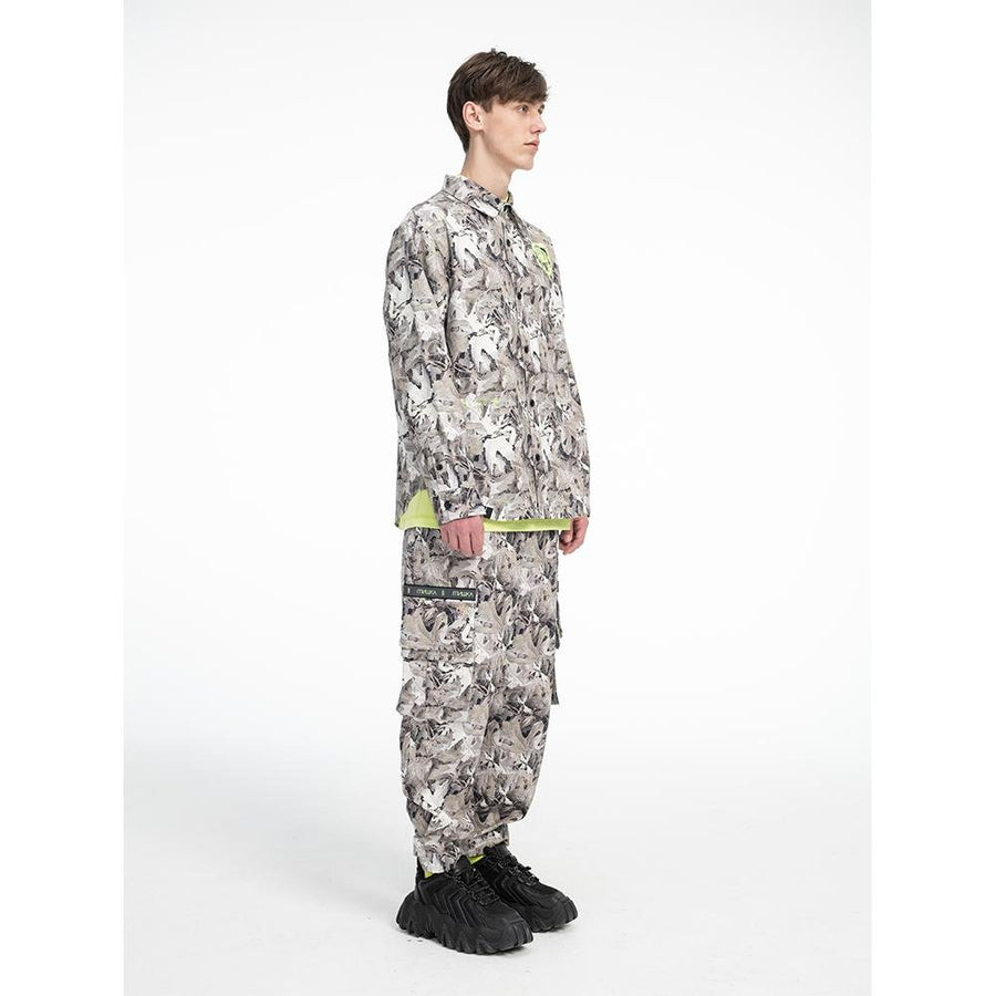 Leaf Camo Button Up - Mishka NYC