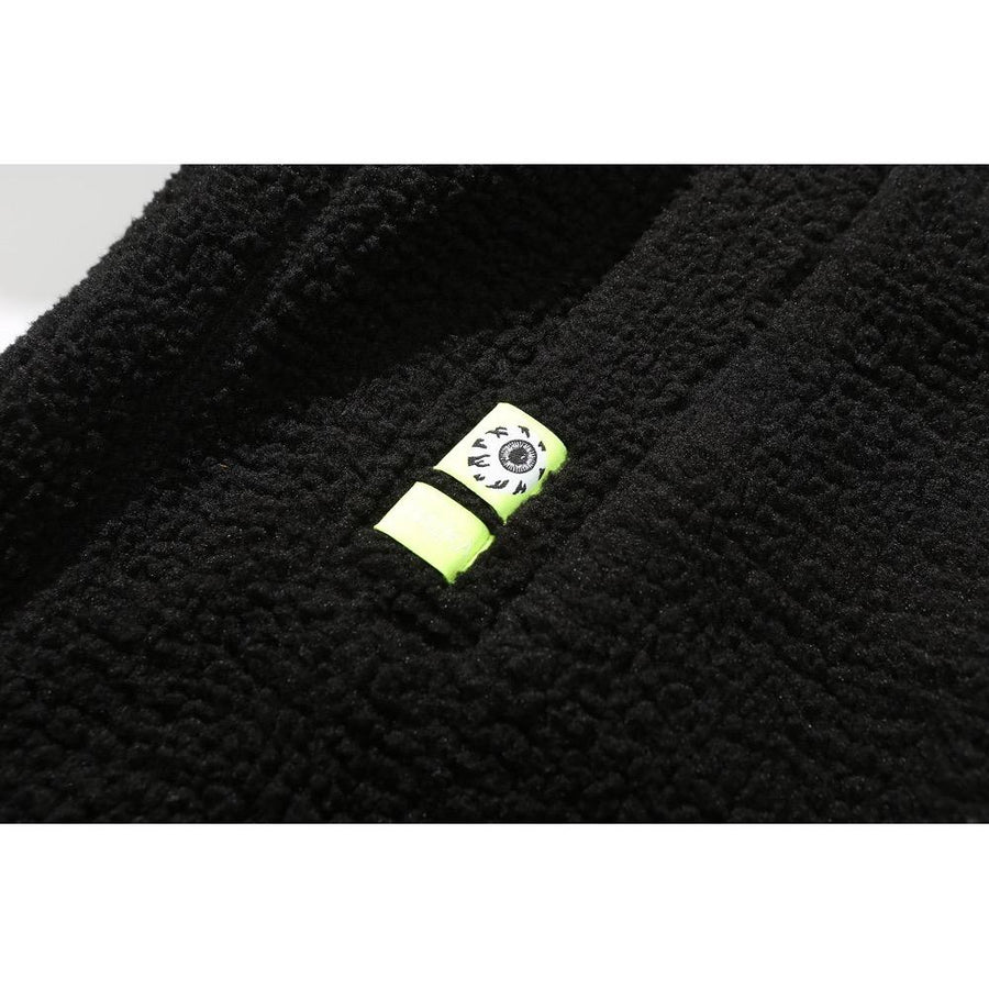 Polar Fleece Dropout Jacket - Black - Mishka