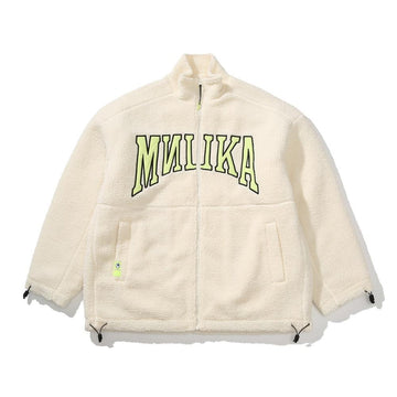 Polar Fleece Dropout Jacket - Milk White - Mishka