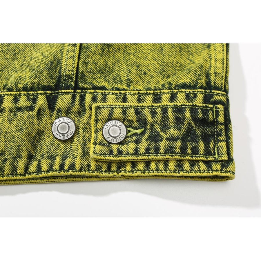 Prime Lime Keep Watch Denim Jacket - Mishka NYC