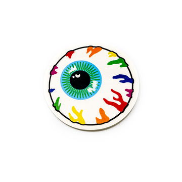 Rainbow Keep Watch Clear Sticker - Mishka NYC