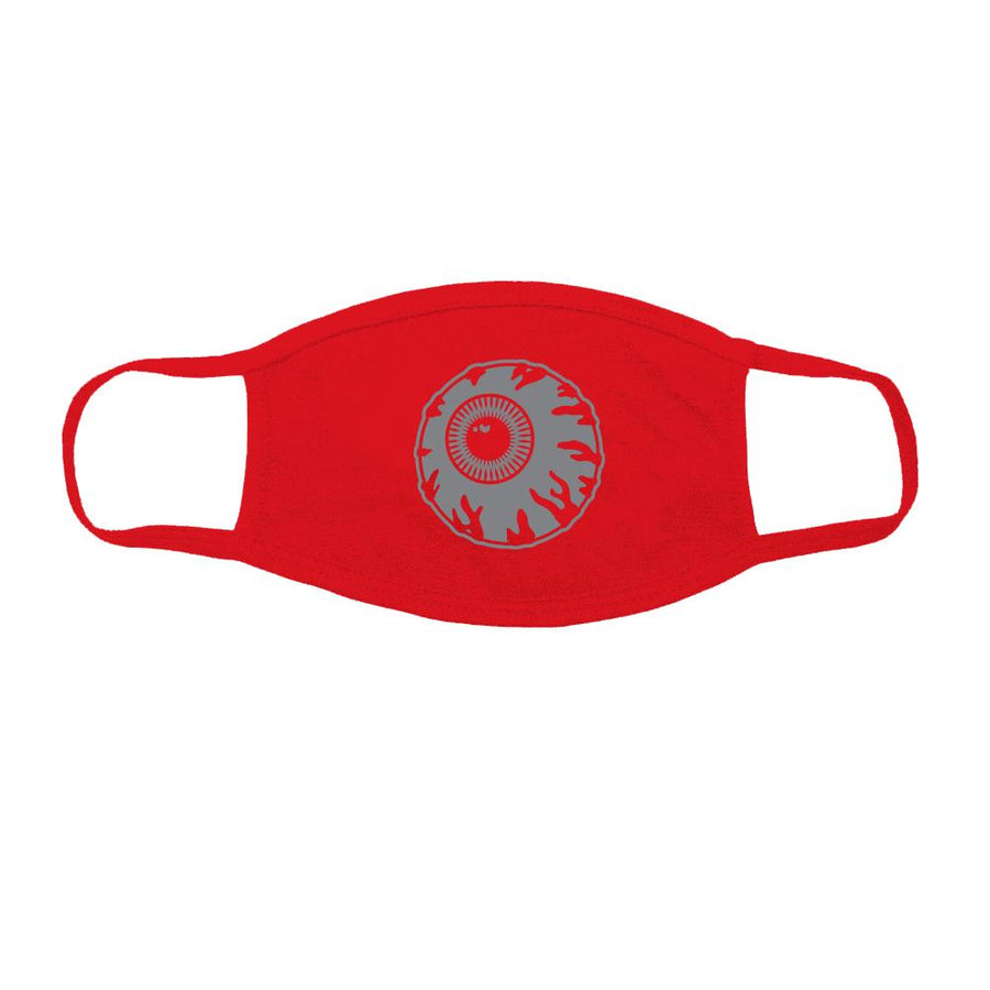Reflective Red Keep Watch Face Mask - Mishka