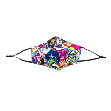 Sticker Collage 2.0 Face Mask - Mishka (6680293277881)