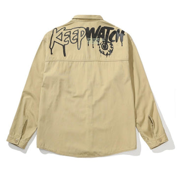 Tex Button Down - light khaki - Mishka NYC