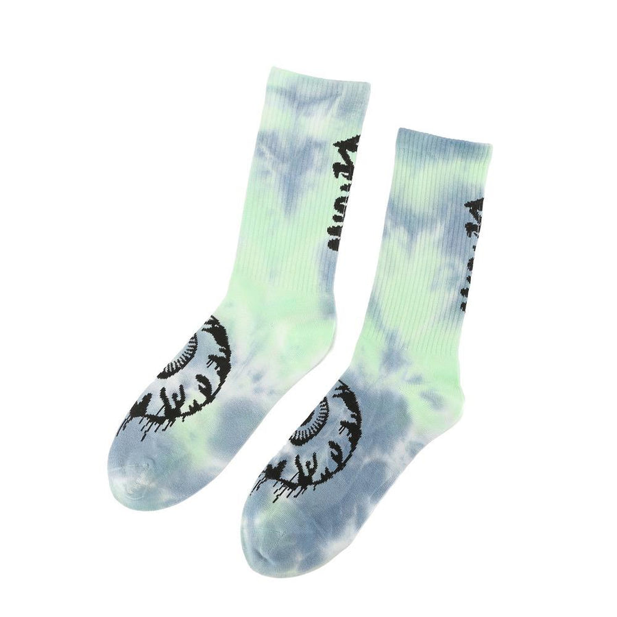 Tie Dye Crusher Socks - lime green - Mishka NYC