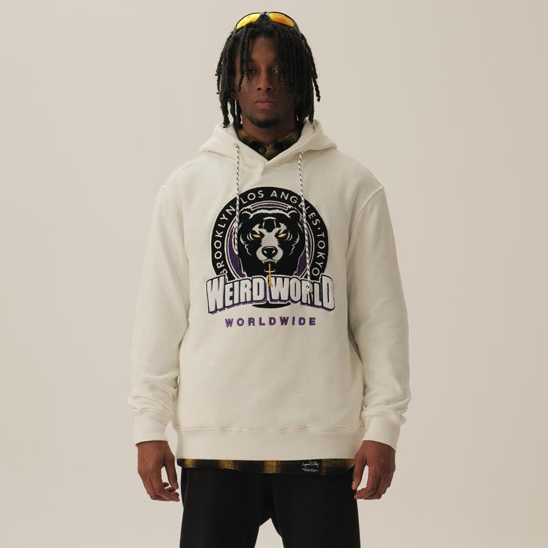 Weird World Worldwide Embroidered Hoodie - Mishka