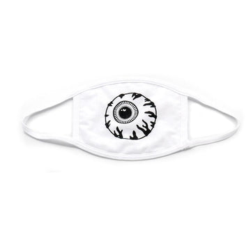 White Keep Watch Face Mask - Mishka NYC (4438698491973)