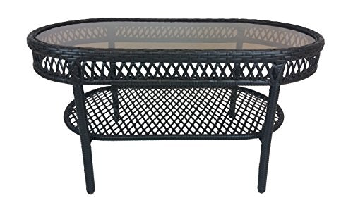 Oakland Living Elite Resin Wicker Coffee Table Home Esencia