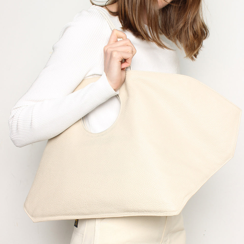 Shell Tote White Wash
