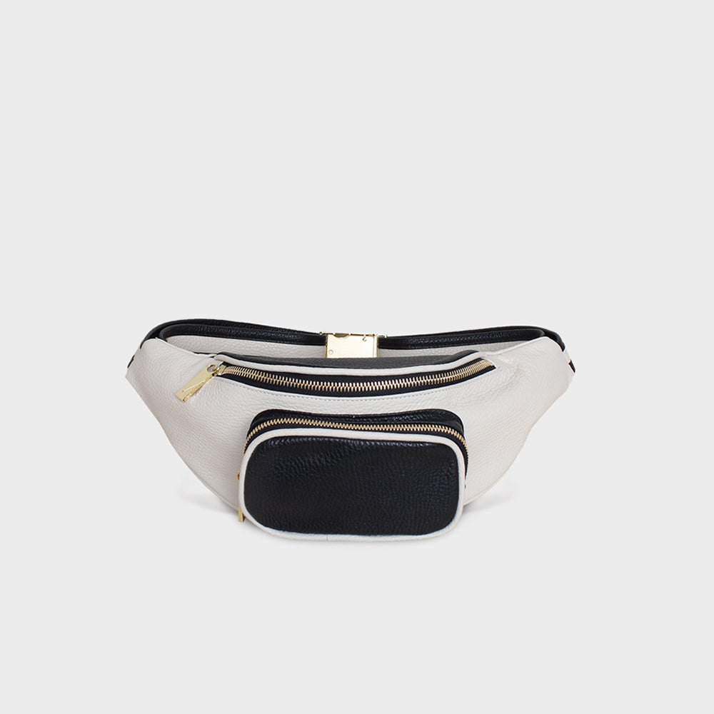 Belt Bag White Wash Black