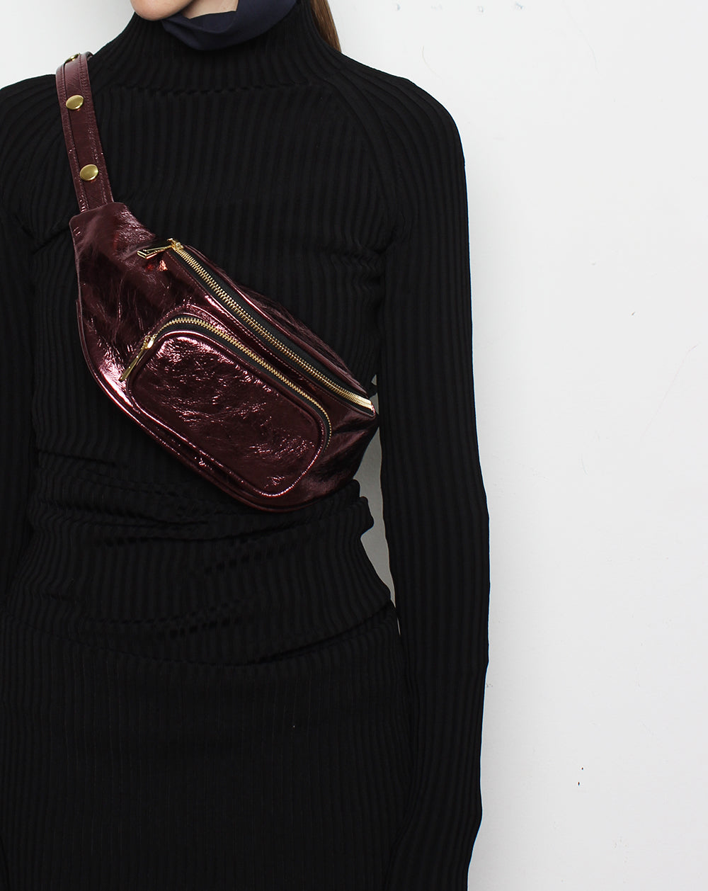 Belt Bag Wine Metallic