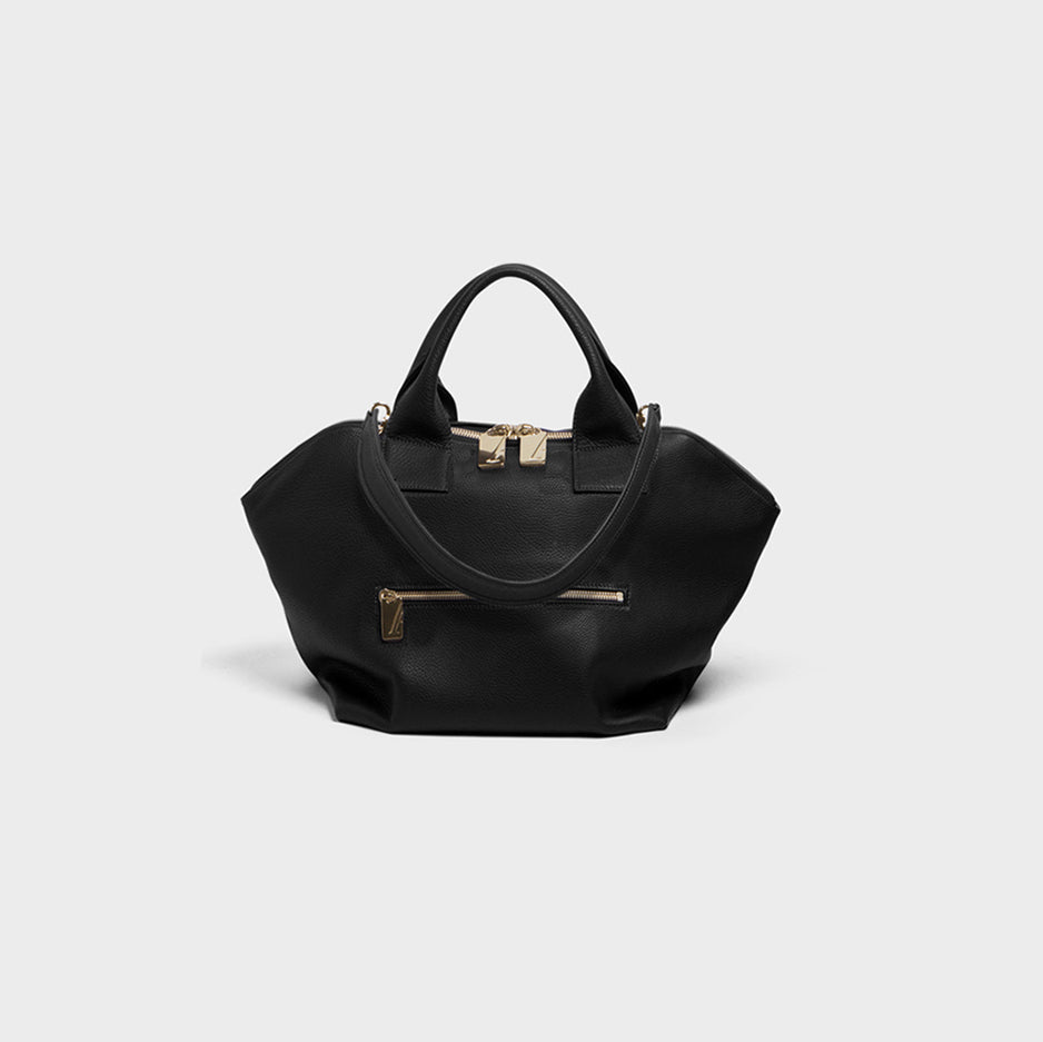 Carry All Handler Midi Black Grain