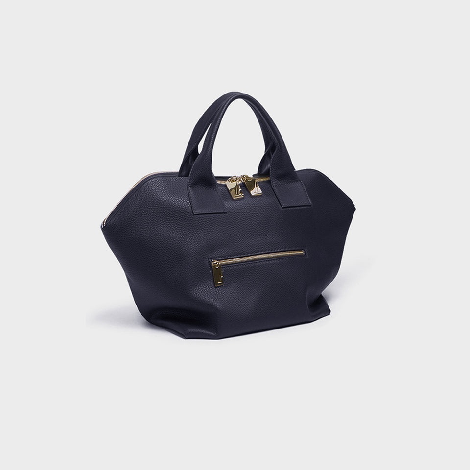 Carry All Handler Midi Navy Grain