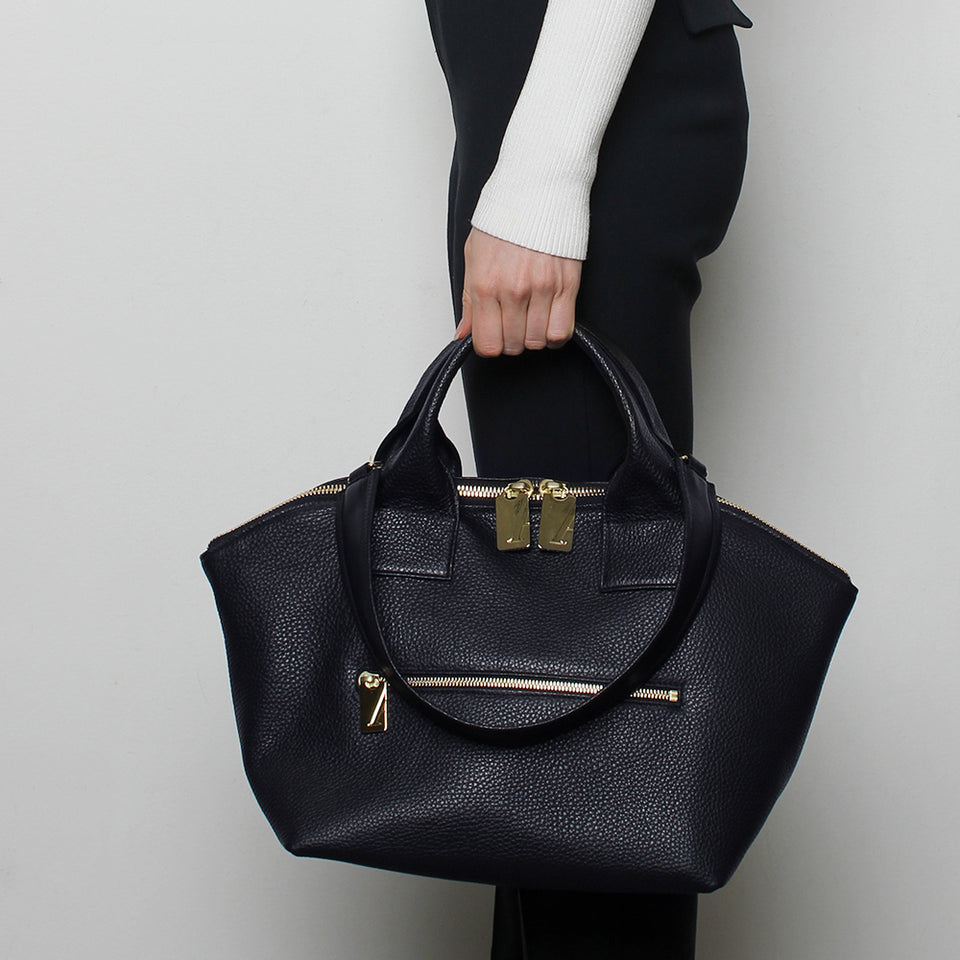 Carry All Handler Midi Grain Navy