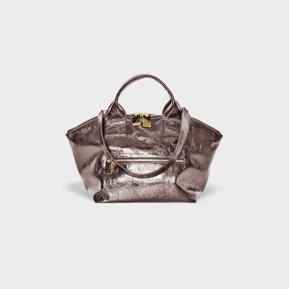 Carry All Handler Midi Metallic Rose