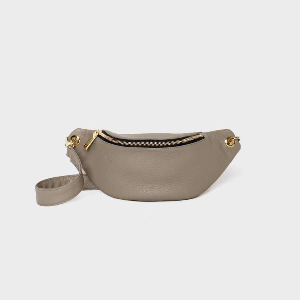 Crescent Belt Bag Grain Light Elephant