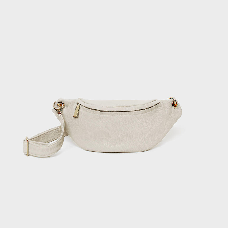 Crescent Belt Bag White Wash