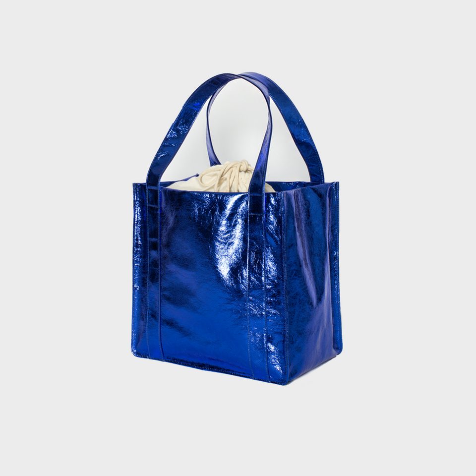 Grocer Bag Original Metallic Bluebird